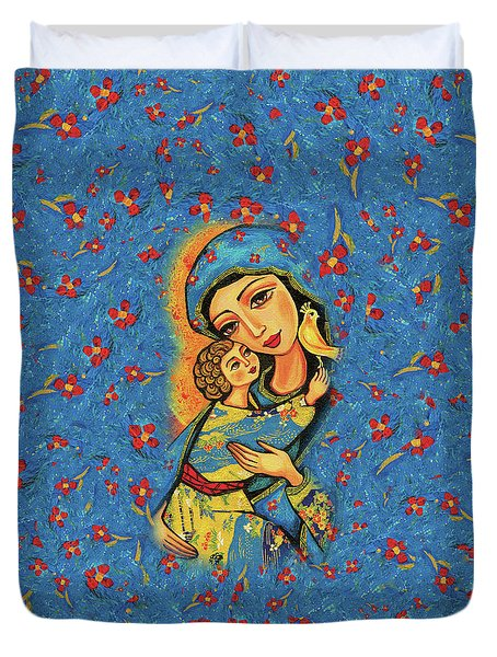 Mother Temple Duvet Cover