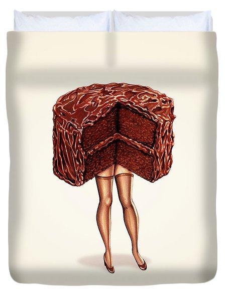 Hot Cakes - Devil's Food Duvet Cover