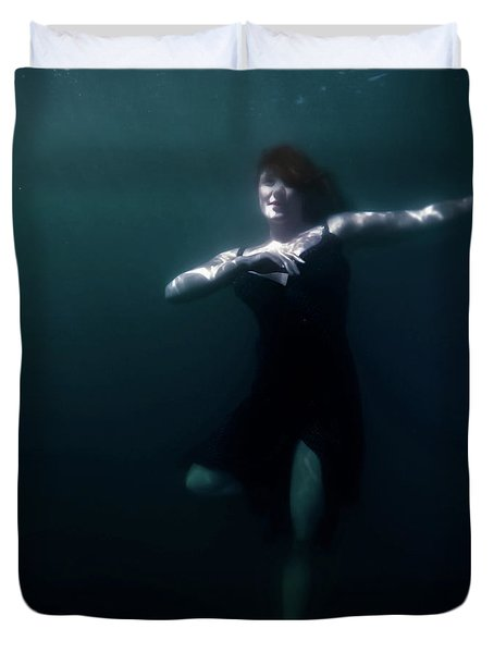 Duvet Cover featuring the photograph Dancing Under The Water by Nicklas Gustafsson