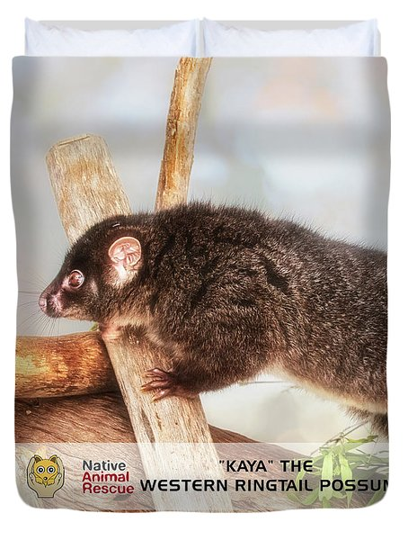 Kaya The Ringtail Possum, Native Animal Rescue Duvet Cover