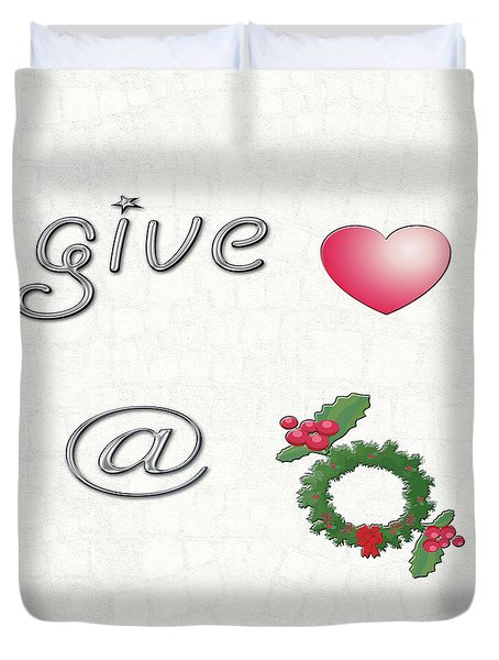 Give Love At Christmas Duvet Cover