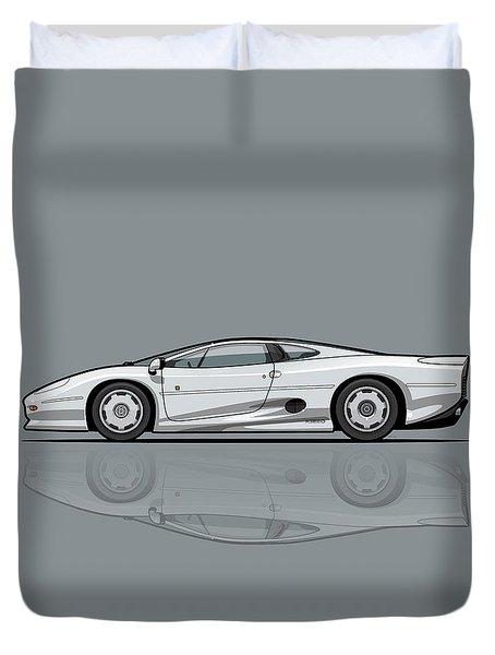 Jag Xj220 Spa Silver Duvet Cover