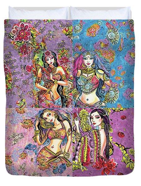 Eastern Flower Duvet Cover