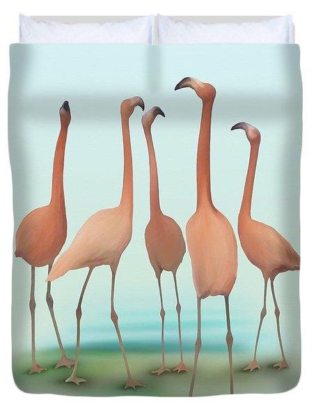 Flamingo Mingle Duvet Cover