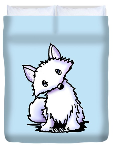 Arctic Fox Duvet Cover by Kim Niles