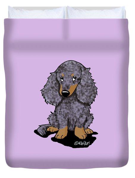 Dapple Doxie Duvet Cover by Kim Niles