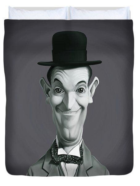 Celebrity Sunday - Stan Laurel Duvet Cover