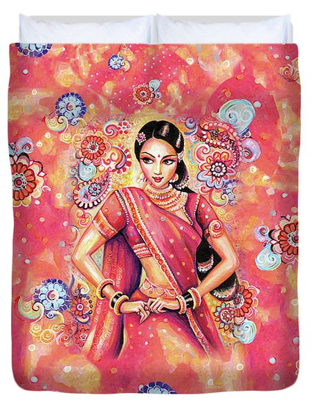 Duvet Cover featuring the painting Devika Dance by Eva Campbell