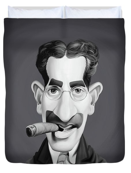 Celebrity Sunday - Groucho Marx Duvet Cover by Rob Snow