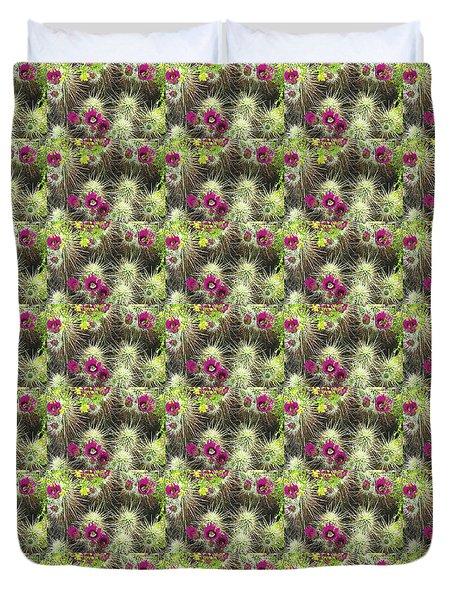 Cholla Cactus Blooms Duvet Cover