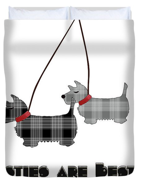 Westies Are Besties Duvet Cover