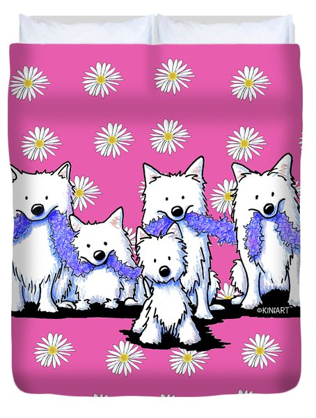 Sams And Westie Duvet Cover