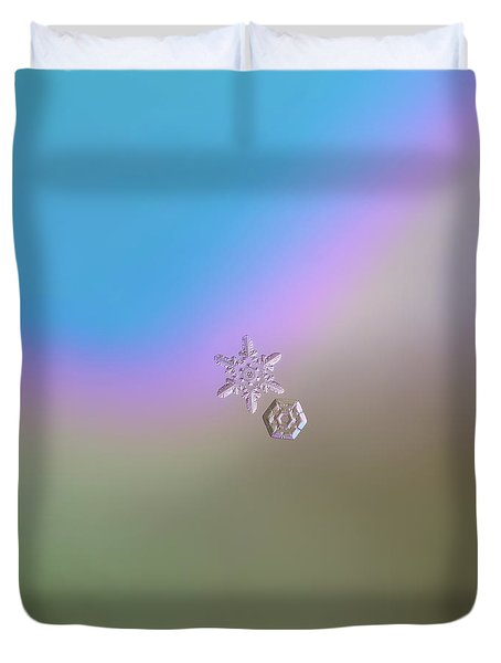 Snowflake Photo - Two Hearts Duvet Cover