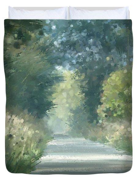The Road Back Home Duvet Cover