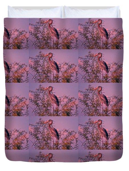 Great Blue Heron - Artistic 6 Duvet Cover