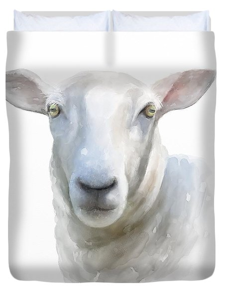 Watercolor Sheep Duvet Cover