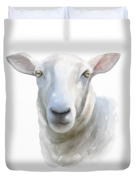 Watercolor Sheep Duvet Cover