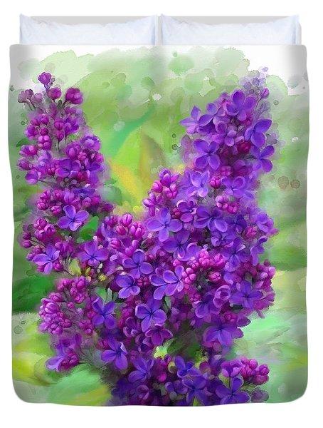 Watercolor Lilac Duvet Cover