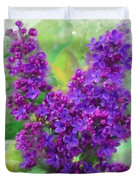 Watercolor Lilac Duvet Cover