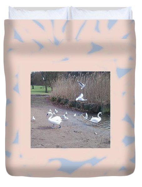Swans 4 Duvet Cover