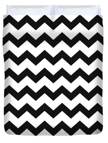 Black White Geometric Pattern Duvet Cover
