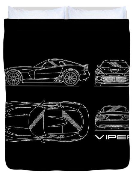 Viper Blueprint Duvet Cover
