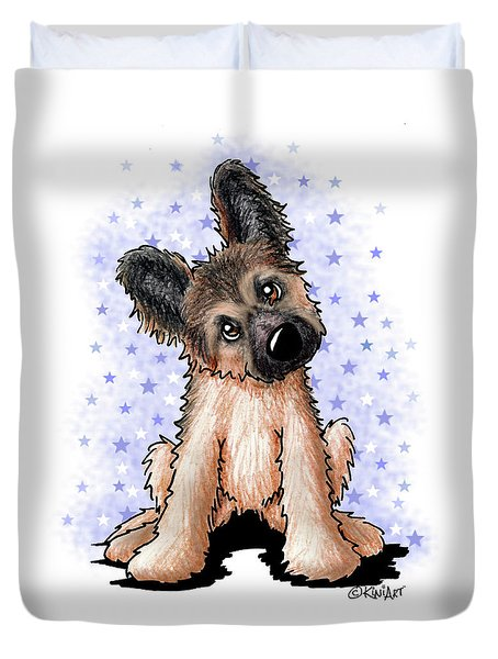 Curious Shepherd Puppy Duvet Cover