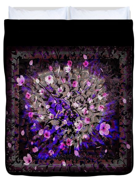 Abstract Cherry Blossom Duvet Cover