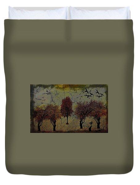 Dark Autumn Night Duvet Cover