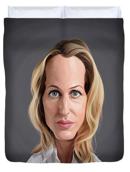 Celebrity Sunday - Gillian Anderson Duvet Cover