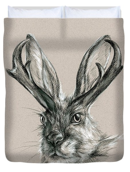 The Mythical Jackalope Duvet Cover