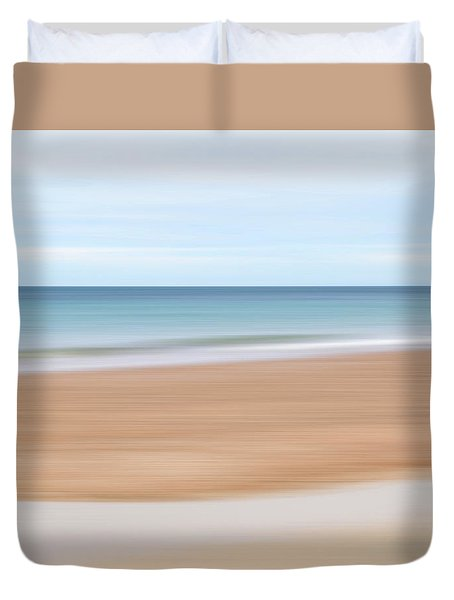 Jersey Coast Seascape Abstract Duvet Cover by Gill Billington