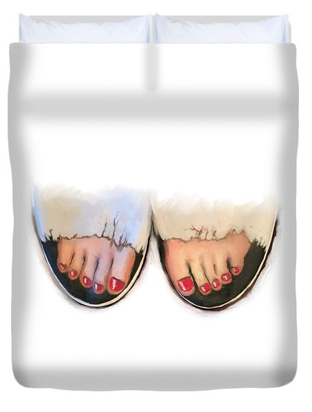 Toes 01 Duvet Cover