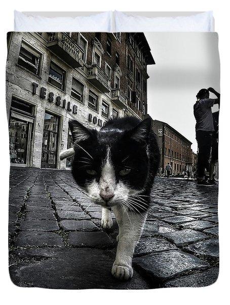 Street Cat Duvet Cover