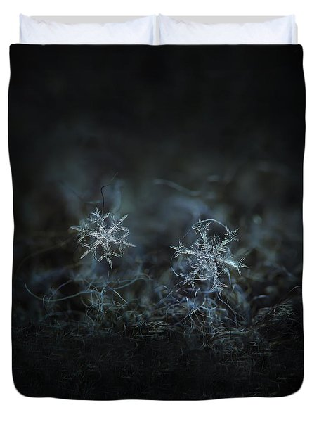 Snowflake Photo - When Winters Meets - 2 Duvet Cover