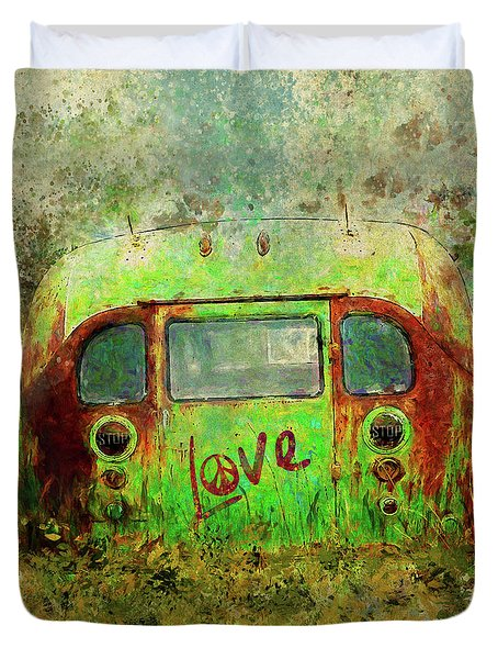Love Bus Duvet Cover