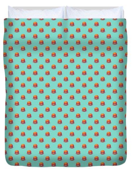 Burger Isometric - Plain Mint Duvet Cover