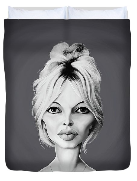 Celebrity Sunday - Brigitte Bardot Duvet Cover