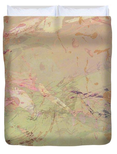 Wabi Sabi Ikebana Romantic Fall Duvet Cover