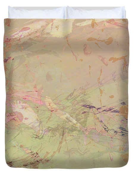 Wabi Sabi Ikebana Romantic Fall Duvet Cover
