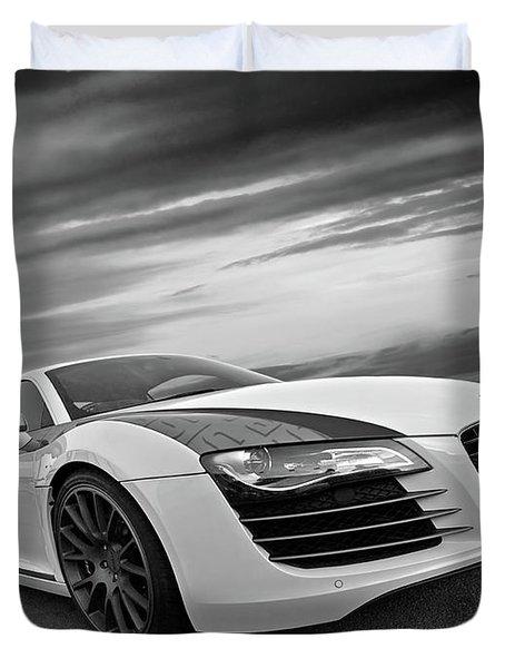 Audi R8 In Black And White Duvet Cover