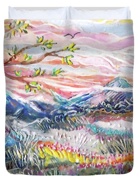 Autumn Country Mountains Duvet Cover