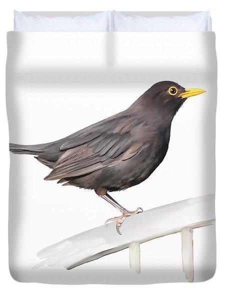 Ms. Blackbird Is Brown Duvet Cover