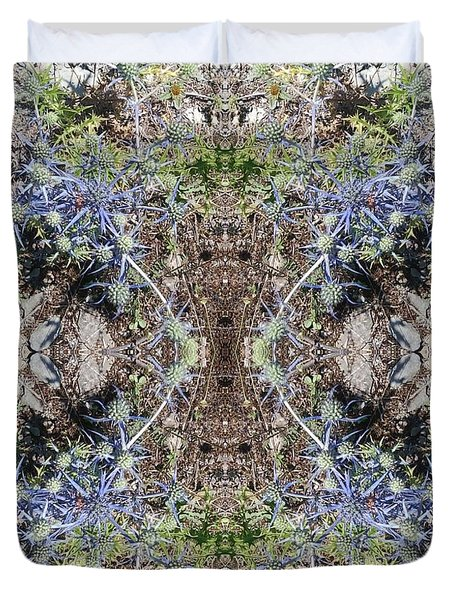 Greek Spiky Plant Duvet Cover