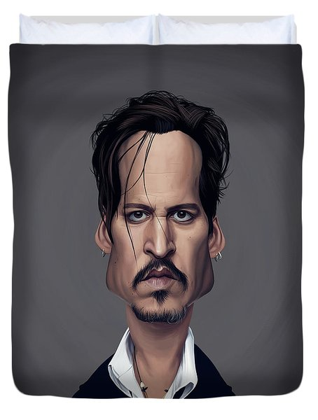 Celebrity Sunday - Johnny Depp Duvet Cover