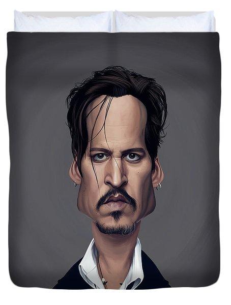 Celebrity Sunday - Johnny Depp Duvet Cover