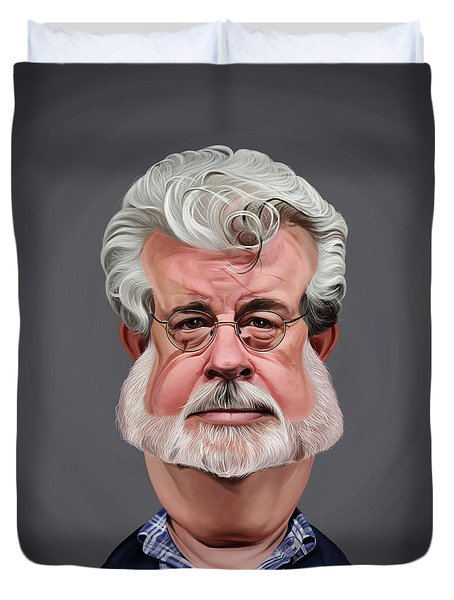 Celebrity Sunday - George Lucas Duvet Cover