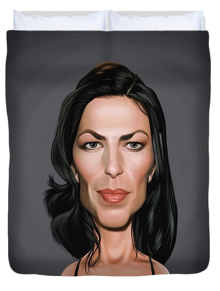 Celebrity Sunday - Claudia Black Duvet Cover