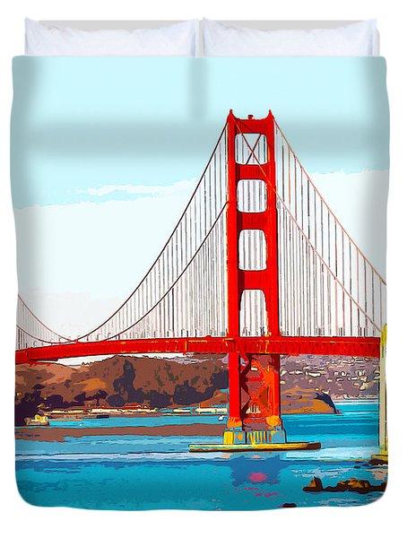 Golden Gate Bridge San Francisco The City By The Bay Duvet Cover