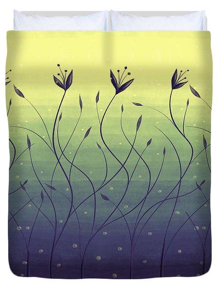 Algae Plants In Green Water Duvet Cover